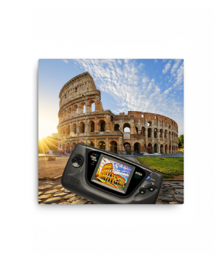 Sega Game Gear Rome Colosseum Selfie Canvas Print